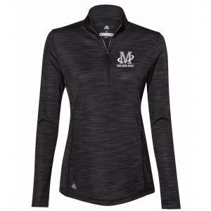Adidas - Women's Lightweight Melange Quarter-Zip Pullover - Black