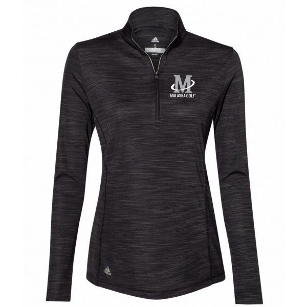 Adidas - Women's Lightweight Melange Quarter-Zip Pullover - Black